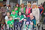 Members of the Brosna and Fitzgerald familiess from Abbeyfelae enjoying the atmosphere for the St Patrick's Day Parade last Saturday afternoon in Abbeyfelae.