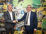 30.06.18 Kenny Miller, Livingston FC new manager with chairman Robert Wilson
