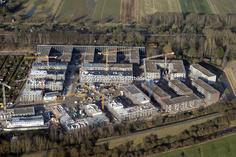 Gleisdreieck Asylanten Wohnungsbau  : EUROPA, DEUTSCHLAND, HAMBURG 10.03.2017: im Bau befindliches Wohngebiet Gleisdreieck Mittlerer Landweg