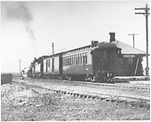 Train 425 at Antonito depot.<br /> D&amp;RGW  Antonito, CO  Taken by Richardson, Robert W. - 7/2/1941