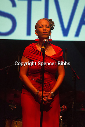 Hyde Park celebrated this weekend with the 10th Annual Hyde Park Jazz Festival. A musical event that spanned the entire neighborhood.<br /> <br /> 5455, 5464, 5474, 5484 &ndash; Singer, Maggie Brown performed at the DuSable Museum located at 740 E. 56th Place.<br /> <br /> Please 'Like' &quot;Spencer Bibbs Photography&quot; on Facebook.<br /> <br /> All rights to this photo are owned by Spencer Bibbs of Spencer Bibbs Photography and may only be used in any way shape or form, whole or in part with written permission by the owner of the photo, Spencer Bibbs.<br /> <br /> For all of your photography needs, please contact Spencer Bibbs at 773-895-4744. I can also be reached in the following ways:<br /> <br /> Website &ndash; www.spbdigitalconcepts.photoshelter.com<br /> <br /> Text - Text &ldquo;Spencer Bibbs&rdquo; to 72727<br /> <br /> Email &ndash; spencerbibbsphotography@yahoo.com