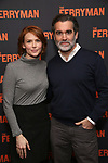 "Holly Fain and Brian d'Arcy James attends the ""The Ferryman"" cast change photo call on January 17, 2019 at the Sardi's in New York City."