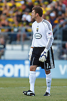 29 MAY 2010:  William Hesmer of the Columbus Crew (1) during MLS soccer game between LA Galaxy vs Columbus Crew at Crew Stadium in Columbus, Ohio on May 29, 2010. Galaxy defeated the Crew 2-0.