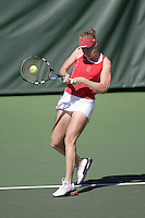 11 March 2007: Theresa Logar during Stanford's 5-2 win over Texas at the Taube Family Tennis Stadium in Stanford, CA.