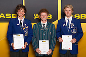 Boys Triathlon/Duathlon/Aquathon finalists Cooper Rand, Michael Perree and Sam Ward. ASB College Sport Young Sportsperson of the Year Awards held at Eden Park, Auckland, on November 24th 2011.