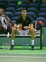 09-02-14, Netherlands,Rotterdam,Ahoy, ABNAMROWTT, Victor Hanescu<br /> Photo:Tennisimages/Henk Koster