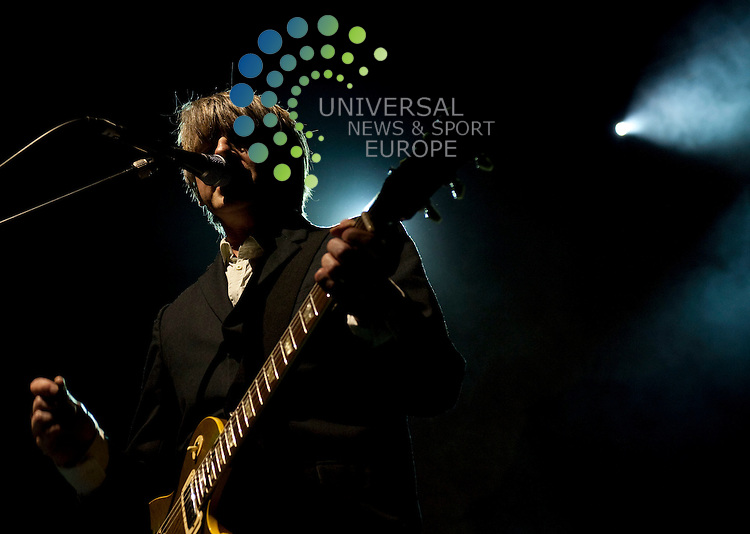 singer Neil Finn of pop band Crowded House. The band were playing at the Clyde Auditorium as part of their current UK tour, promoting new album 'Intriguer'...Clyde Auditorium, Finneston Quay, Glasgow, Scotland. Picture: Euan Anderson/Universal News And Sport (Scotland) 19th May 2010.