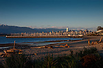 Downtown Vancouver and Jericho harbour from  Jericho beach.Vancouver,British Colombia