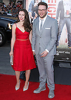 """WESTWOOD, LOS ANGELES, CA, USA - APRIL 28: Lauren Miller, Seth Rogen at the Los Angeles Premiere Of Universal Pictures' """"Neighbors"""" held at the Regency Village Theatre on April 28, 2014 in Westwood, Los Angeles, California, United States. (Photo by Xavier Collin/Celebrity Monitor)"""