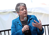 LOS ANGELES, CA -APRIL 14: Janet Napolitano, at 2019 Los Angeles Times Festival Of Books Day 2 at University of Southern California in Los Angeles, California on April 14, 2019.<br /> CAP/MPI/FS<br /> &copy;FS/MPI/Capital Pictures