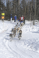 Sebastian Schnuelle Anchorage Start Iditarod 2008.