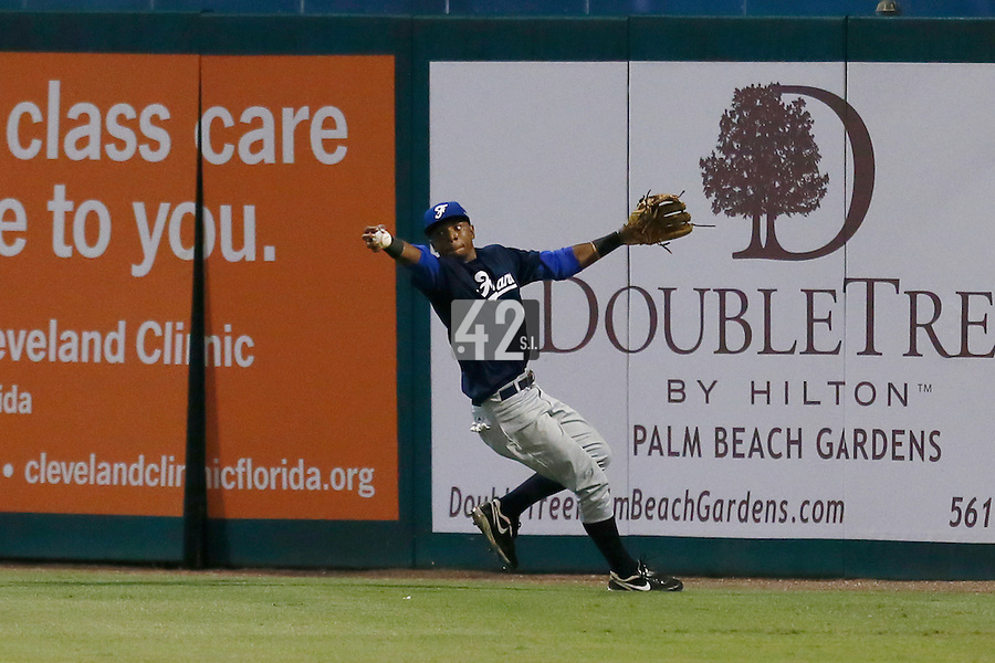 20 September 2012: Marc Ramirez catches the ball barehand during Spain 8-0 win over France, at the 2012 World Baseball Classic Qualifier round, in Jupiter, Florida, USA.