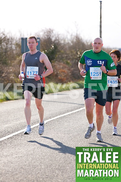 1177 Trevor Dunne and 1251 Billy Guerin who took part in the Kerry's Eye, Tralee International Marathon on Saturday March 16th 2013.