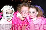 SCARY: Ciarda Supple, Ciara Reidy and Meadh Keane, Ballyheigue looking scary at the Knocknagoshel Halloween festival on Sunday.