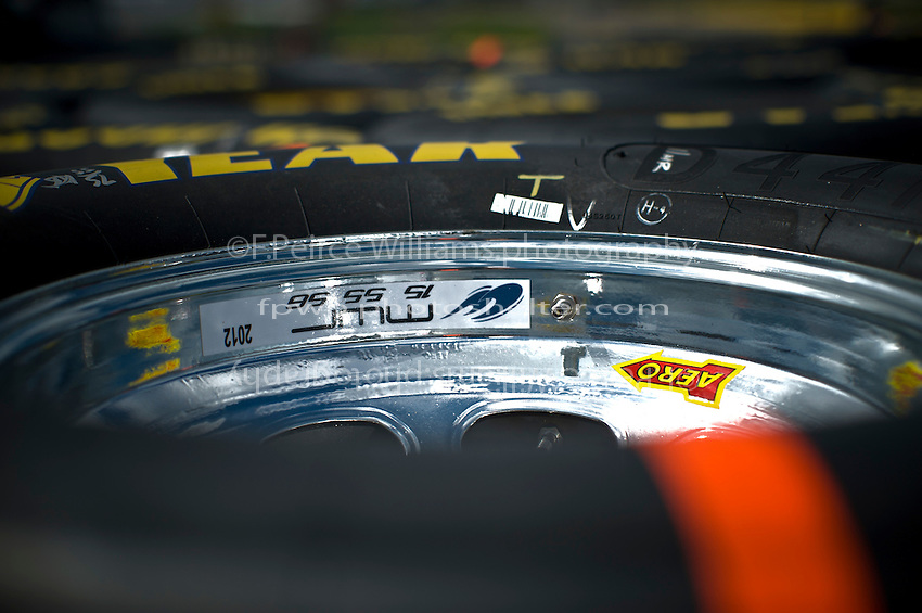 Goodyear Eagle tires and rims for Michael Waltrip Racing's cars.