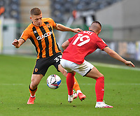 Hull City's Greg Docherty battles with Crew Alexandra's Owen Dale<br /> <br /> Photographer Dave Howarth/CameraSport<br /> <br /> The EFL Sky Bet League One - Hull City v Crewe Alexandra - Saturday 19th September 2020 - KCOM Stadium - Kingston upon Hull<br /> <br /> World Copyright © 2020 CameraSport. All rights reserved. 43 Linden Ave. Countesthorpe. Leicester. England. LE8 5PG - Tel: +44 (0) 116 277 4147 - admin@camerasport.com - www.camerasport.com
