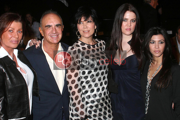 Linell Shapiro and Robert Shapiro with Kris Jenner and her daughters Khloe Kardashian and Kourtney Kardashian<br />at day four of the 2007 Mercedes-Benz Fashion Week Fall Collection. Smashbox Studios, Culver City, CA. 03-21-07<br />Dave Edwards/DailyCeleb.com 818-249-4998