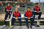 08 May 2007: Preki (l) with staff.  The United Soccer League Division 1 Carolina Railhawks hosted Major League Soccer's Chivas USA in a friendly game at SAS Stadium in Cary, North Carolina.