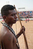 An Aeta indigenous archer from the Phillipines waits to compete at the International Indigenous Games in Brazil. 24th October 2015