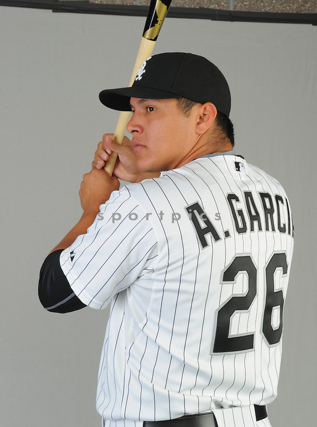 Chicago White Sox Avisail Garcia (26) during photo day on February 28, 2015 in Glendale, AZ.
