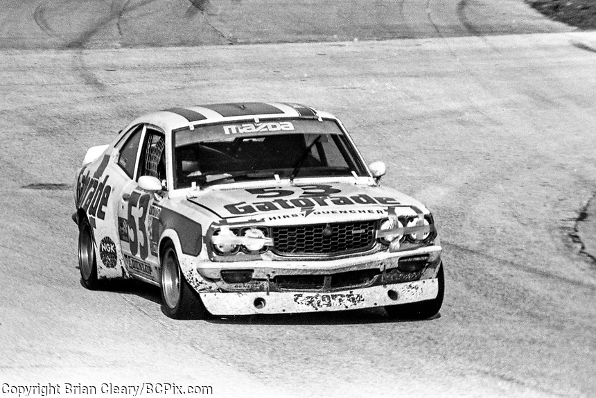 #53 Mazda RX-3 of  Jim Downing, Stu Fisher, Walt Bohren, and Roger Mandeville 29th place finish, 1978 24 Hours of Daytona, Daytona International Speedway, Daytona Beach, FL, February 5, 1978.  (Photo by Brian Cleary/www.bcpix.com)