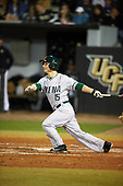 Siena Saints left fielder Chris Davignon (15) at bat during a game against the UCF Knights on February 17, 2017 at UCF Baseball Complex in Orlando, Florida.  UCF defeated Siena 17-6.  (Mike Janes/Four Seam Images)