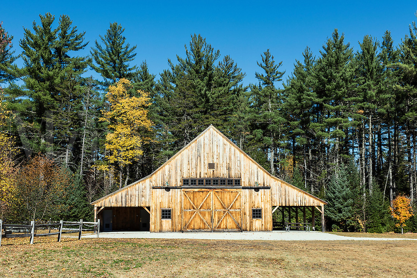 The Russell-Colbath Barn, White Mountian National Forest, New Hampshire, USA.