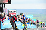Dani Rowe (GBR) Great Britain team crosses the finish line in 3rd place at the end of Stage 2 of the Asda Womens Tour de Yorkshire 2018 running from Barnsley to Ikley, England. 4th May 2018.<br /> Picture: ASO/Alex Broadway | Cyclefile<br /> <br /> <br /> All photos usage must carry mandatory copyright credit (&copy; Cyclefile | ASO/Alex Broadway)