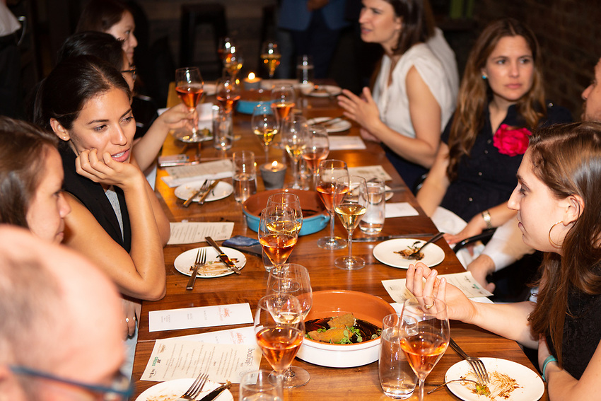 Brooklyn, NY - May 15, 2018:  The JBF Greens host a tour of Sahadi's and dinner at Boutros  on Atlantic Avenue in Brooklyn Heights.<br /> <br /> <br /> CREDIT: Clay Williams for The James Beard Foundation.<br /> <br /> &copy; Clay Williams / http://claywilliamsphoto.com