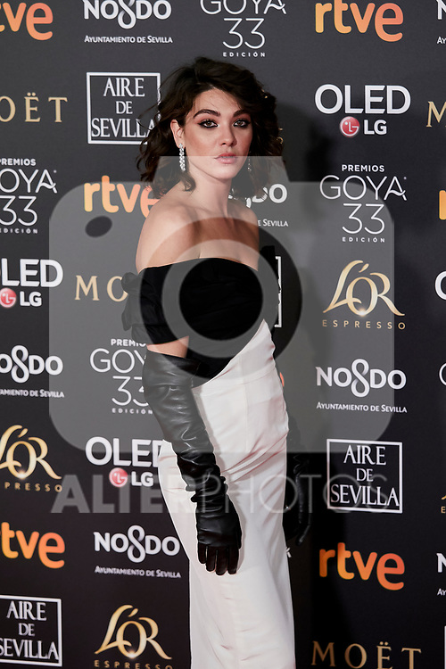 Steffy Argelich attends to 33rd Goya Awards at Fibes - Conference and Exhibition  in Seville, Spain. February 02, 2019. (ALTERPHOTOS/A. Perez Meca)