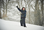 Max Montwill having fun in the snow at Woodstock View in Ennis. Photograph by John Kelly.