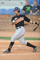 Levi Carolus Bluefield Orioles (Baltimore Orioles)  at Howard Johnson Field, Johnson City TN August 23, 2008 (Photo by Tony Farlow/ Four Seam Images)