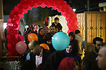 Palestinian children celebrate of New Year festivities, in Gaza City, on December 30, 2017. Photo by Mohammed Asad