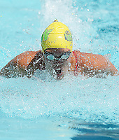 Ridgewood's Beata Nelson sets a pool record in the Women's 15-19 100 SC Meter Butterfly with a time of 58.87 seconds during the 2015 All-City Swim Meet on Saturday, August 1, 2015 at High Point Swim Club in Middleton, Wisconsin