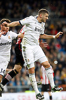 Real Madrid CF vs Athletic Club de Bilbao (5-1) at Santiago Bernabeu stadium. The picture shows Karim Benzema. November 17, 2012. (ALTERPHOTOS/Caro Marin) NortePhoto