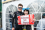 Michal Kwiatkowski (POL) Team Sky with fan before the Tour de France Saitama Crit&eacute;rium 2017 held around the streets os Saitama, Japan. 4th November 2017.<br /> Picture: ASO/Pauline Ballet | Cyclefile<br /> <br /> <br /> All photos usage must carry mandatory copyright credit (&copy; Cyclefile | ASO/Pauline Ballet)