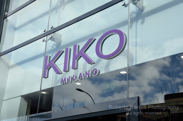 Kiko Milano cosmetics store in Hammersmith, London, UK.