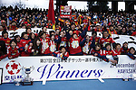 INAC Kobe Leonessa team group, DECEMBER 27, 2015 - Football / Soccer : The 37th Empress Cup All Japan Women's Football Championship Award Ceremony at Todoroki Stadium in Kanagawa, Japan. (Photo by Koji Aoki/AFLO SPORT)