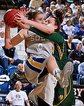 BROOKINGS, SD - JANUARY 31:  Emily Spier #30 from North Dakota State University battles for a rebound with Chynna Stevens #0 from South Dakota State University in the first half of their game Saturday afternoon at Frost Arena in Brookings. (Photo by Dave Eggen/Inertia)