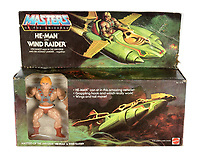 BNPS.co.uk (01202 558833)<br /> Pic: Vectis/BNPS<br /> <br /> PICTURED: Mattel He-Man Masters of the Universe Wind Raider pack sold for £4,800<br /> <br /> One man's epic collection of retro eighties' toys has been sold for £220,000 by his family following his death.<br /> <br /> Dr Cornel Flemming amassed more than 1,600 toy action figures and cars for franchises like Star Wars, He-Man and Transformers. <br /> <br /> The market for nostalgic toys is booming at the moment which is reflected in the prices some of the toys achieved.<br /> <br /> An unopened pack of three He-Man figures featuring He-Man, Teela and Ram Man made by Mettel sold for an incredible £12,000.
