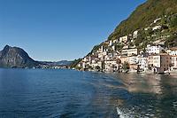 Switzerland, Ticino, Gandria at Lago Lugano, at backgound Monte San Salvatore | Schweiz, Tessin, Gandria am Luganer See, im Hintergrund der Monte San Salvatore