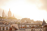 FRANCE, Paris, early morning view of the Sacré-Cœur Basilica and other rooftops