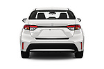 Straight rear view of 2020 Toyota Corolla LE 4 Door Sedan Rear View  stock images