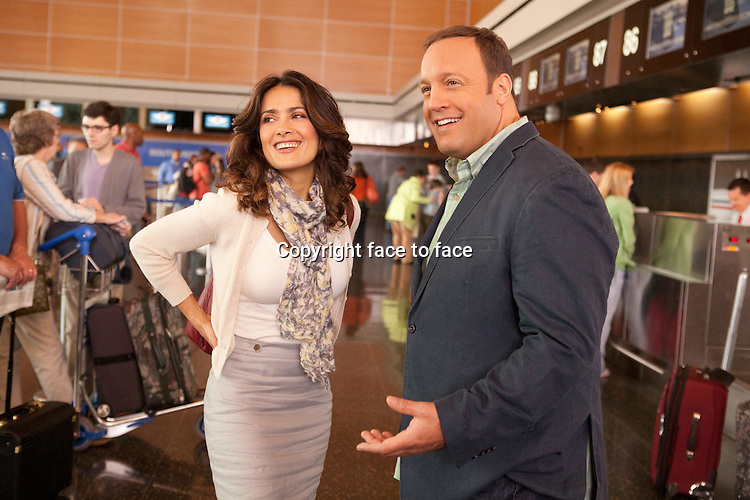 "Salma Hayek (""Bella"") and Kevin James (""Scott"") in Here comes the Boom (German title: Das Schwergewicht)...- Editorial Use Only -..Supplied by face to face"