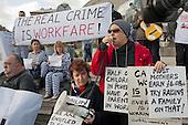 Boycott Workfare protest outside a Welfare to Work Conference in Islington, London.