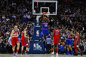 17th January 2019, The O2 Arena, London, England; NBA London Game, Washington Wizards versus New York Knicks; Mitchell Robinson of the New York Knicks scores 2 points from a slam dunk