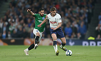 Tottenham Hotspur's Jan Vertonghen and Brighton & Hove Albion's Alireza Jahanbakhsh<br /> <br /> Photographer Rob Newell/CameraSport<br /> <br /> The Premier League - Tottenham Hotspur v Brighton and Hove Albion - Tuesday 23rd April 2019 - White Hart Lane - London<br /> <br /> World Copyright © 2019 CameraSport. All rights reserved. 43 Linden Ave. Countesthorpe. Leicester. England. LE8 5PG - Tel: +44 (0) 116 277 4147 - admin@camerasport.com - www.camerasport.com