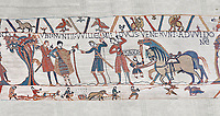 Bayeux Tapestry scene 10:  William sends messengers to Guy de Ponthieu ordering Harolds release. BYX10