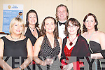 CHAMBER: Enjoying the Tralee Chamber of Commerce Ball on Saturday night at the Brandon Hotel, l-r: Claire Harty, Linda Kennelly, Ann Harty, Daithi O Se (Guest of Honour), Mary Rose Stafford and Myra Breen..