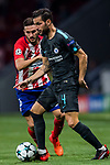 Cesc Fabregas of Chelsea FC fights for the ball with Jorge Resurreccion Merodio, Koke, of Atletico de Madrid during the UEFA Champions League 2017-18 match between Atletico de Madrid and Chelsea FC at the Wanda Metropolitano on 27 September 2017, in Madrid, Spain. Photo by Diego Gonzalez / Power Sport Images